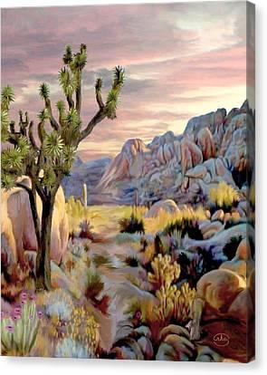 Twilight At Joshua   Vert. Canvas Print