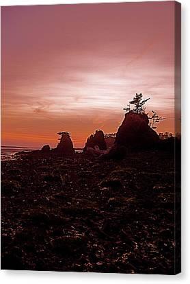 Twilight At Schooner Canvas Print by Jennifer Addington