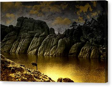 Twilight At The Lake Canvas Print
