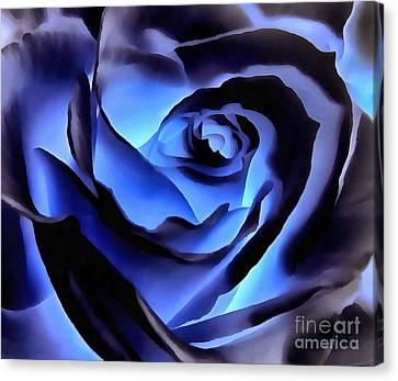 Twilight Blue Rose  Canvas Print