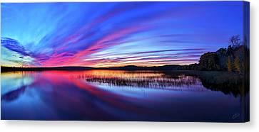 Twilight Burn Panorama Canvas Print