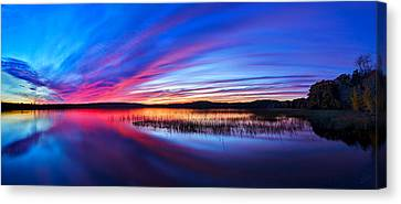 Twilight Burn Panorama Canvas Print by ABeautifulSky Photography
