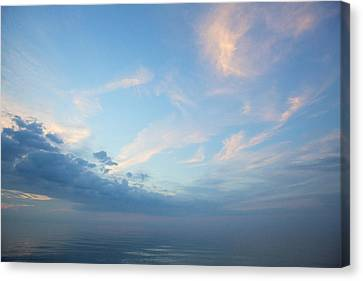 Canvas Print featuring the photograph Twilight Clouds Over Lake Superior by Jane Melgaard
