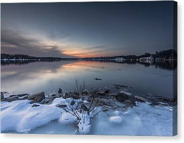 Canvas Print featuring the photograph Twilight by Edward Kreis