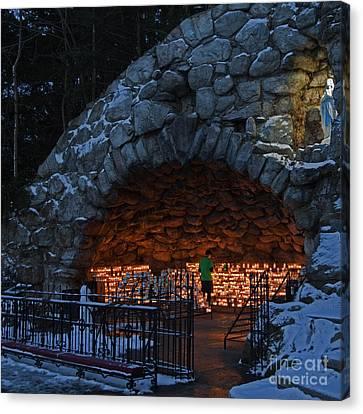 Twilight Grotto Prayer Canvas Print