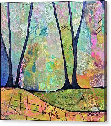 Tree Lines Canvas Print - Twilight I by Shadia Derbyshire