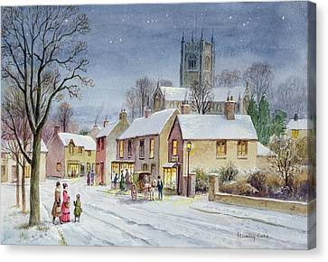 Twilight In The Village Canvas Print by Stanley Cooke