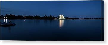 Twilight Jefferson Memorial Panorama Canvas Print by Andrew Soundarajan