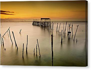 Canvas Print featuring the photograph Twilight by Jorge Maia
