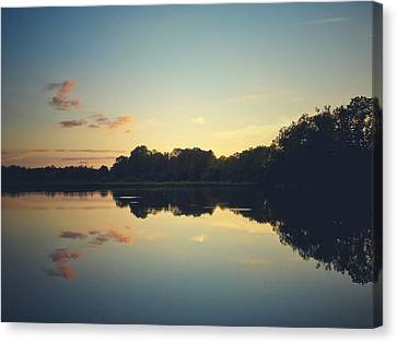 Canvas Print featuring the photograph Twilight by Karen Stahlros