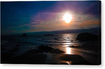 Twilight Low Tide Canvas Print