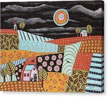 Twilight Moon Canvas Print by Karla Gerard