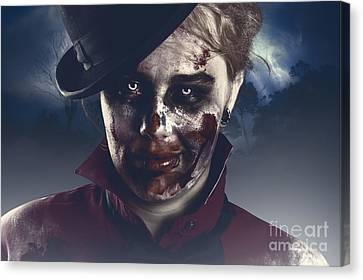 Twilight Nightmare. Possessed Halloween Girl Canvas Print by Jorgo Photography - Wall Art Gallery