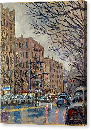 Twilight On Broadway New York City Canvas Print by Thor Wickstrom