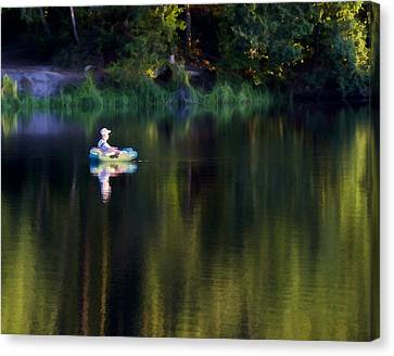 Twilight On The Lake Canvas Print