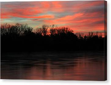 Canvas Print featuring the photograph Twilight On The River by Chris Berry