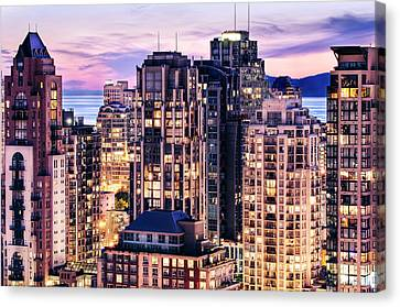 Twilight Over English Bay Vancouver Canvas Print