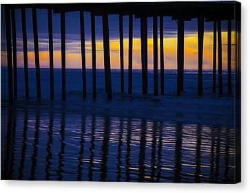 Twilight Pier Canvas Print by Garry Gay