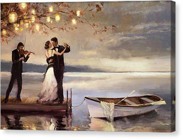 Twilight Romance Canvas Print by Steve Henderson