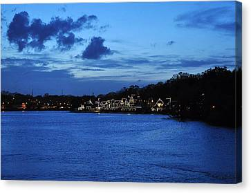 Twilight Row Canvas Print by Andrew Dinh