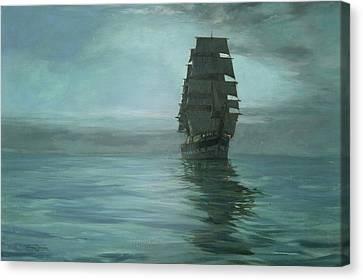 Twilight Shadows Canvas Print by Montague Dawson