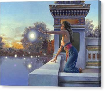 Twilight Summoning Canvas Print by Richard Hescox