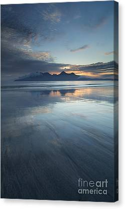 Twilight Sunset Over The Isle Of Rhum Canvas Print by John Potter