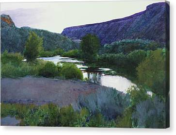 Twilight Taos Sold Canvas Print by Cap Pannell