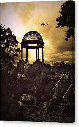 Twilight Temple Canvas Print by Jessica Jenney