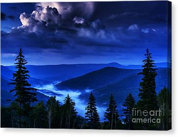 Williams River Canvas Print - Twilight Thunderhead by Thomas R Fletcher