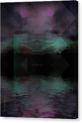 Canvas Print featuring the digital art Twilight Zone by Mimulux patricia no No