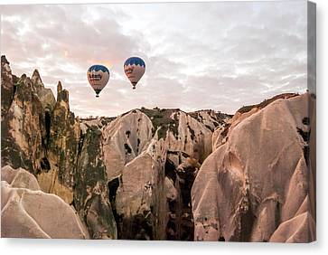 Twin Balloons Canvas Print by Phyllis Taylor