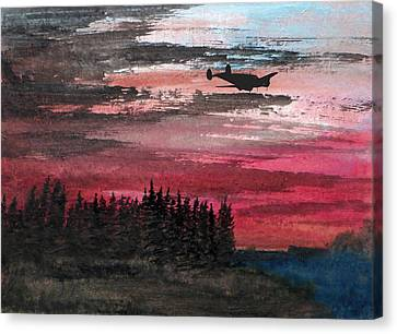 Twin Beech Late Canvas Print by R Kyllo