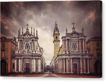 Twin Churches Of Turin  Canvas Print by Carol Japp