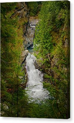 Twin Falls Snoqualmie River Washington Canvas Print by Stacey Lynn Payne