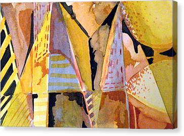 Twin Golden Pyramids Canvas Print by Mindy Newman