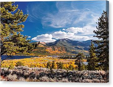 Twin Lakes And Quail Mountain - Independence Pass - In Late September - Rocky Mountains Colorado Canvas Print