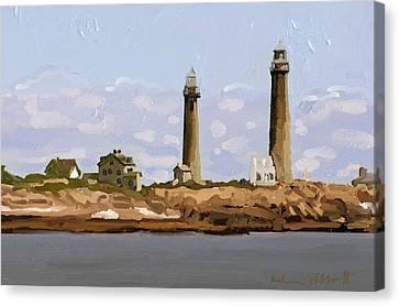 Twin Lights, Thatcher's Island, Rockport, Ma Canvas Print