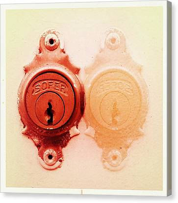 Doubles Canvas Print - Twin Lock by Marco Oliveira