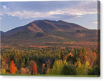 Twin Mountain Autumn Sunset Canvas Print