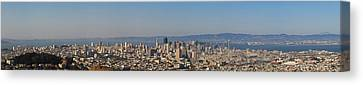 Twin Peaks City View Canvas Print by Paul Owen