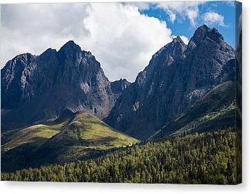 Twin Peaks In Mid-summer Canvas Print