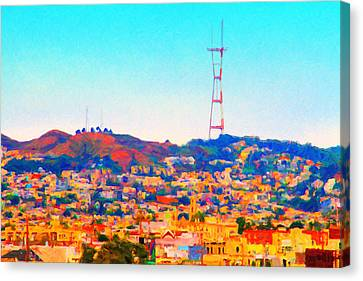 Twin Peaks In San Francisco Canvas Print