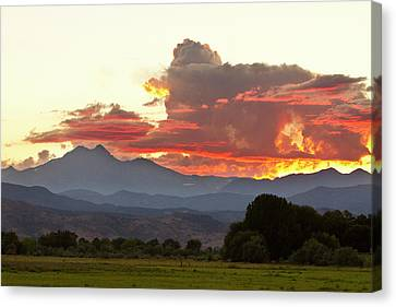 Twin Peaks Longs Meeker August Sunset 3 Canvas Print by James BO  Insogna