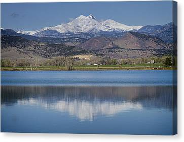 Twin Peaks Mccall Reservoir Reflection Canvas Print by James BO  Insogna