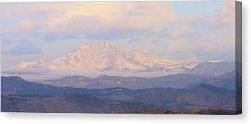 Twin Peaks Meeker And Longs Peak Panorama Color Image Canvas Print by James BO  Insogna