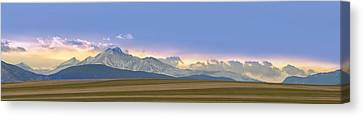 Twin Peaks Panorama View From The Agriculture Plains Canvas Print by James BO  Insogna