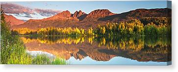 Twin Peaks Reflected Canvas Print by Ed Boudreau