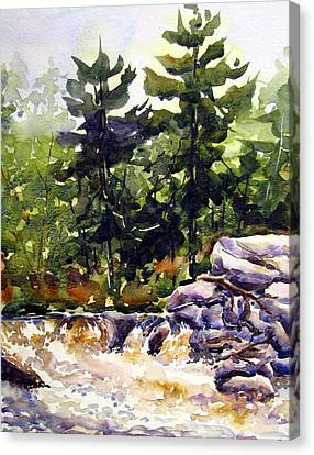 Twin Pine Rapids Canvas Print by Chito Gonzaga