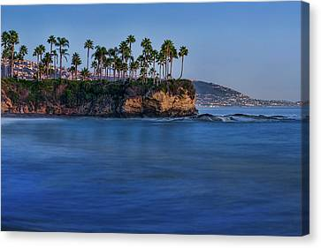 Twin Points At Dusk Canvas Print by Kelley King